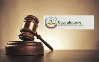Adoption d'un nouveau règlement intérieur à la Cour Africaine des droits de l'homme et des peuples
