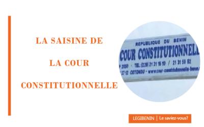 Cour constitutionnelle: comment adresser les demandes?