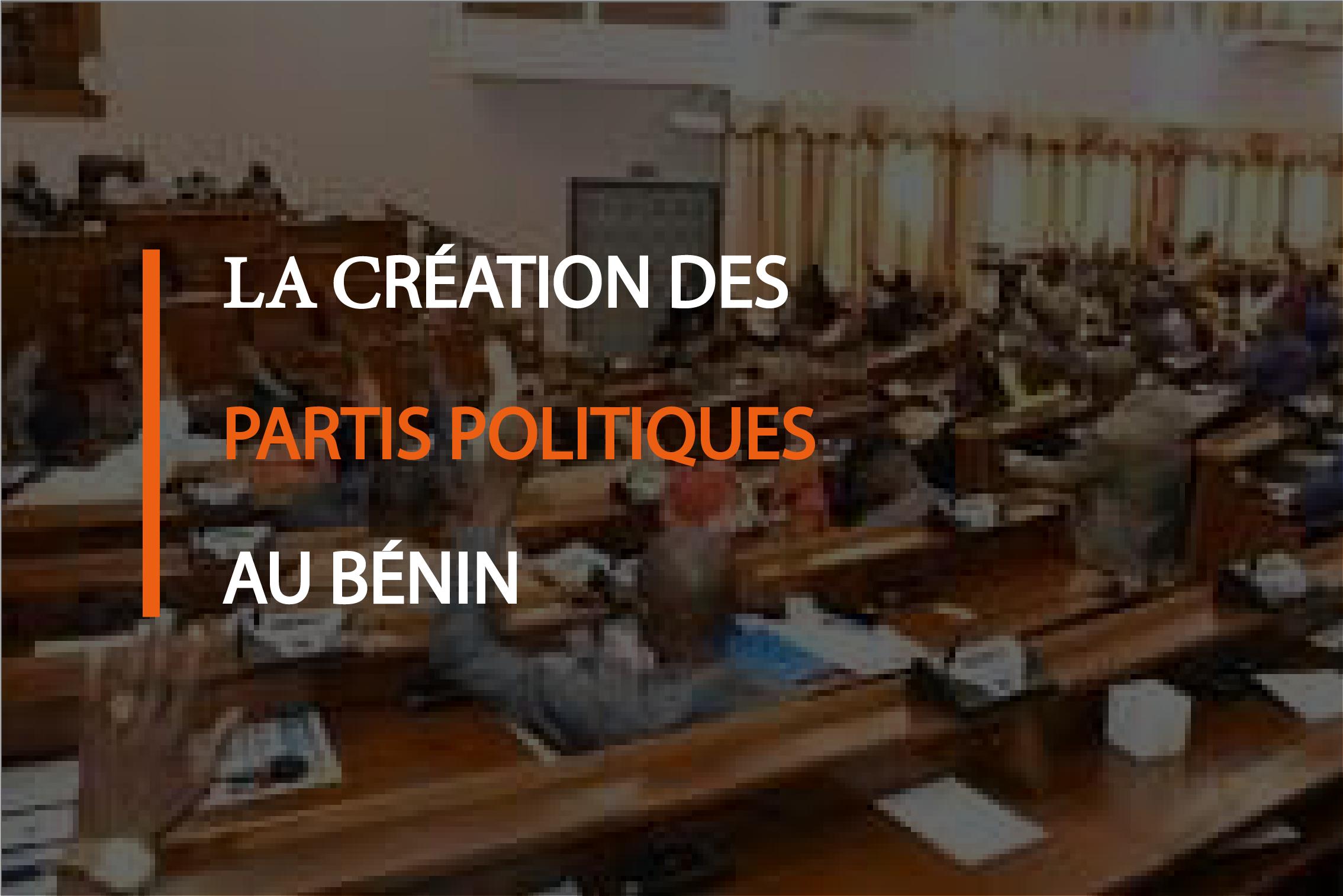 Création d'un parti politique