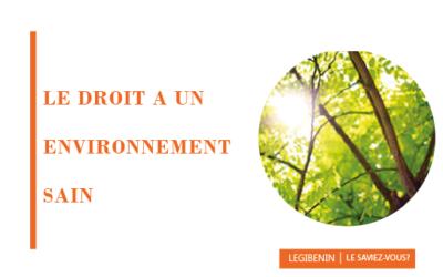 Le droit à un environnement sain au Bénin