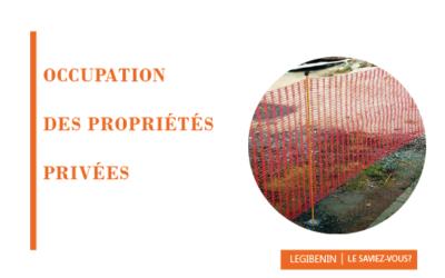 L'occupation temporaire des propriétés privées par l'État