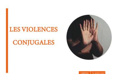 Les violences conjugales et viols entre époux