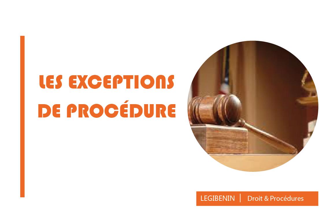 Exceptions de procédure