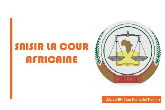 Saisir la Cour africaine