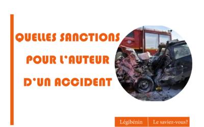 Accident de circulation et blessures : que risque l'auteur?