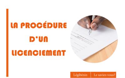 Quelle est la procédure d'un licenciement disciplinaire ?