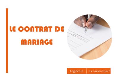 Le contrat de mariage: quel en est l'intérêt?
