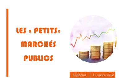 Les petits marchés publicsou la règle des seuils…!