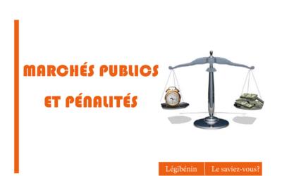 Les pénalités dans les marchés publics