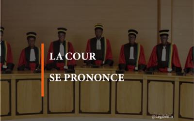 Changement de la dénomination «Bénin»: la position de la Cour constitutionnelle